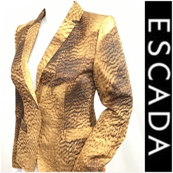 Escada Jackets & Blazers - %100 Authentic Escada Abstract Animal Print Jacket